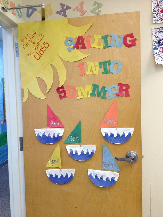 Summer Classroom Door Decorations : Classroom door and decorations