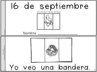 GRATIS !!!  Un librito para el 16 de septiembre dia de la independencia de mexico kindergarten preescolar