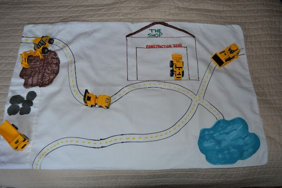 Travel construction zone!  http://teeatimeplayschool.blogspot.com/2012/06/my-mind-is-always-thinking-about-fun.html