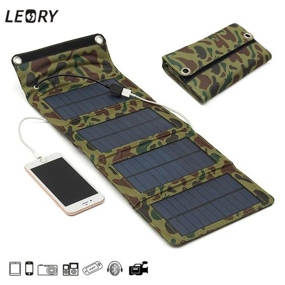 7w Usb Solar Panels Battery Charger Camping Charging Kits Solar Panel Charger Solar Panel Battery Portable Solar Panels