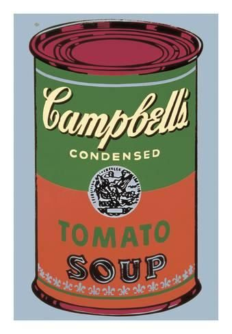 Campbell S Soup Can 1965 Green And Red Giclee Print Andy Warhol Art Com Campbell S Soup Cans Andy Warhol Red Art Print