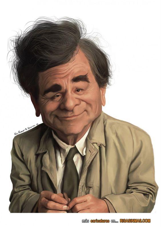 Caricatura de Peter Falk como Colombo.
