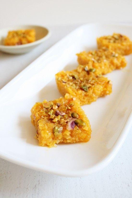 Mango Coconut Burfi Recipe | Mango dessert recipes