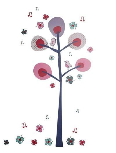 Pegatina gigante rbol habitaci n beb ni a rosa claro for Pegatinas habitacion nina