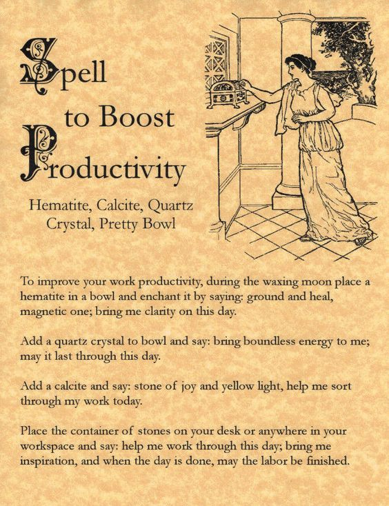 Spell to Boost Productivity, Book of Shadows Pages, BOS Pages, Real Magic Spells picclick.com: