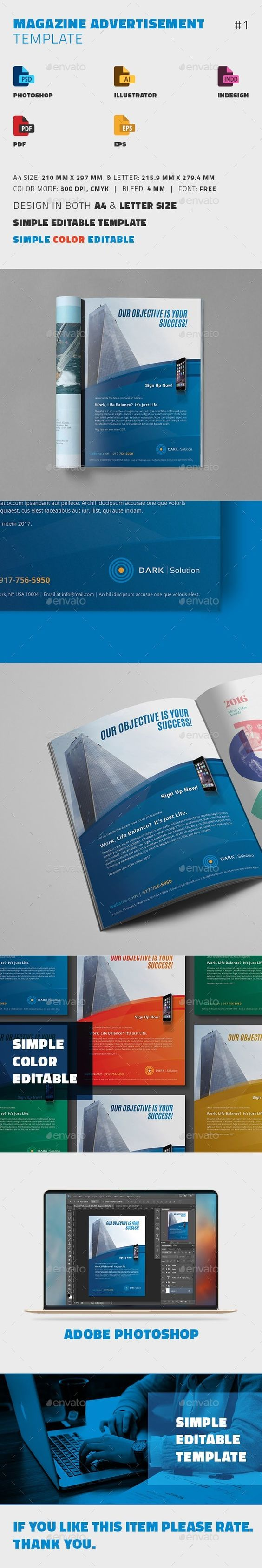 magazine advertisement template advertisement template creative magazine advertisement template