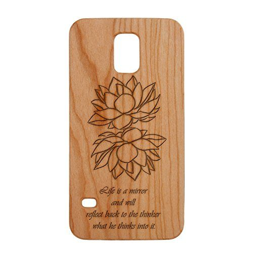 Cherry Wood Laser Engraved Phone Case for Galaxy S5 - Lotus Flowers Reflection Bubble Gifts http://www.amazon.ca/dp/B00WRRC67E/ref=cm_sw_r_pi_dp_6muEvb0BSYYAW