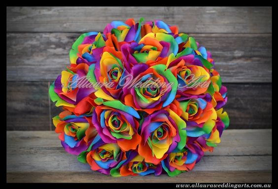 Pinterest the world s catalog of ideas for Rainbow dyed roses