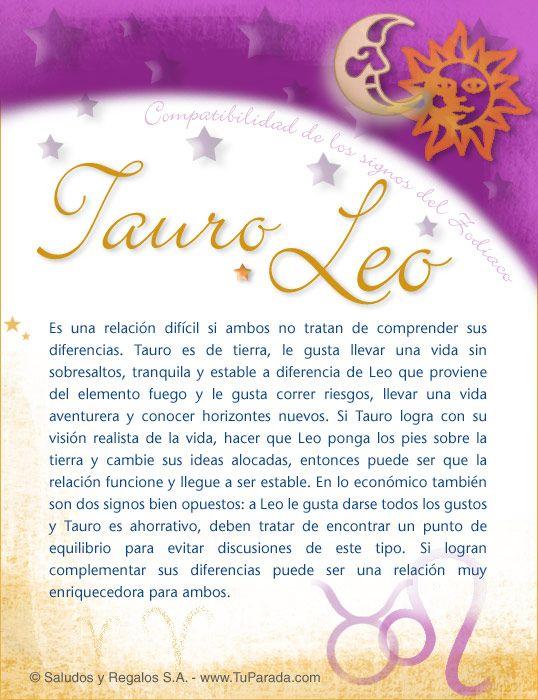 Tauro Con Leo Compatibilidad De Tauro Tarjetas Postales Gratis Feliz Día Nombres Fotos Imágenes Felices Leo Y Tauro Leo Y Sagitario Aries Y Capricornio