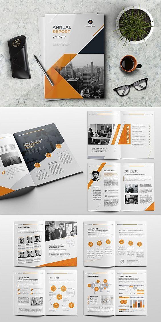 Indesign Annual Report Template Annualreport Brochure Template