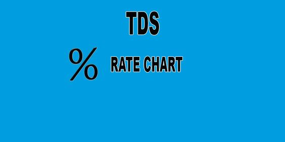 Latest TDS Rate Chart Income Tax Pinterest Chart - rate chart