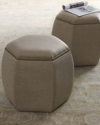 lexie hexagon ottoman - horchow