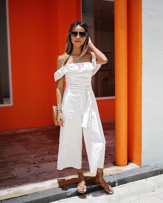 "JULIE SARIÑANA on Instagram: ""Sunny Miami getaway in this @clubmonaco jumpsuit! ☀️ #ClubEscapes"""