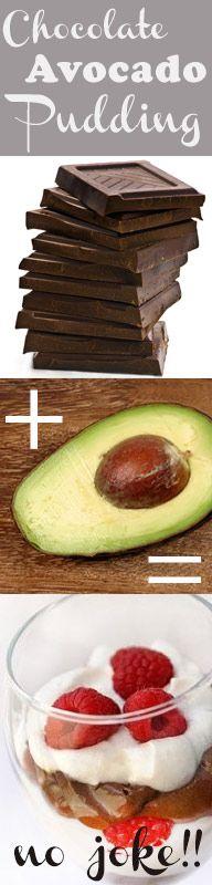 Avocado Pudding | Healthy Chocolate Raspberry Parfaits (Top Secret Ingredient!)