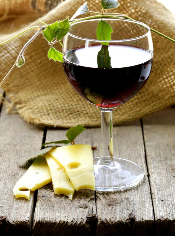 happiness is a glass of Wine with Cheese