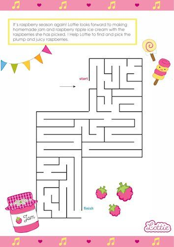 Raspberry Ripple Lottie printable maze   Activities, Maze and Free ...