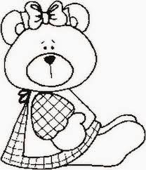 Resultado de imagem para desenhos para colorir de ursinhos