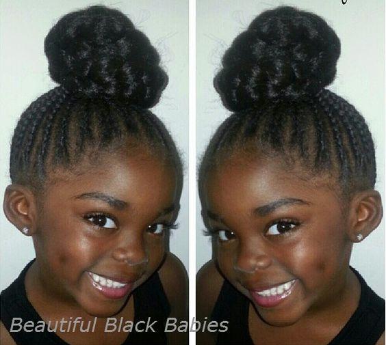Peachy Pretty Cornrow Braids Bun Cornrow Styles Pinterest Buns Short Hairstyles Gunalazisus