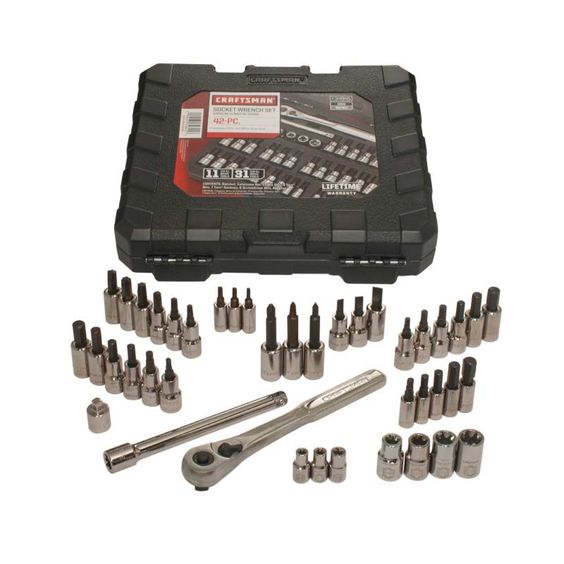 This 42 Piece Drive and Torx Set Give You a Grip Neat an organized, this 42 piece drive and Torx wrench set comes packed into a protective blow molded case that shrugs off moisture and delivers fast packing portability for jobs on the go. Whether you're working under the hood, in the furnace room or are performing necessary tweaks around the house, this set is always prepared.Equipped to spin Torx, external Torx, hex and an array of standard fastener heads with more power than a ...