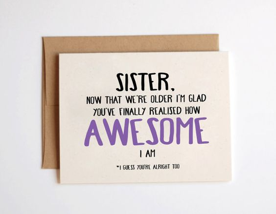 Best Gift For Elder Sister On Her Wedding : awesome 16th birthday so true my sister nice sisters haha birthday ...