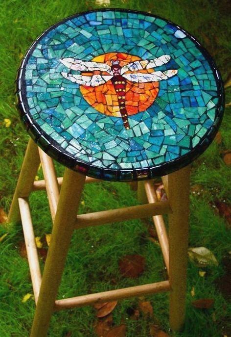 Mozaiek krukje
