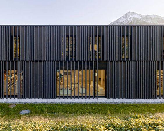 Bibliothek, Ludothek, Verwaltung, Spiez, bauzeit Architekten, Yves André, Holzbau