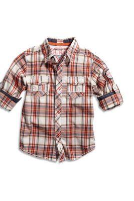Little Boy Long-Sleeve Vincent Plaid Shirt | guess kids