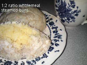 Cooking Pleasure: 1:2 Ratio Wholemeal Steamed Buns