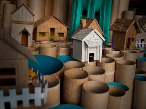 Toilet paper roll town by BobbyProm