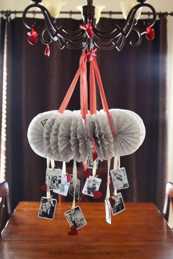 vintage paper chandelier