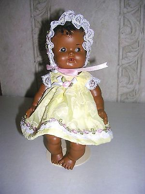 Sun-Rubber-Ruth-Newton-Doll-African-American-Doll-8-Smaller-than-So-Wee-Doll