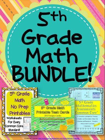 5th grade math bundle 5th grade maths assessment and maths 5th grade math bundle worksheets task cards and assessments ibookread ePUb