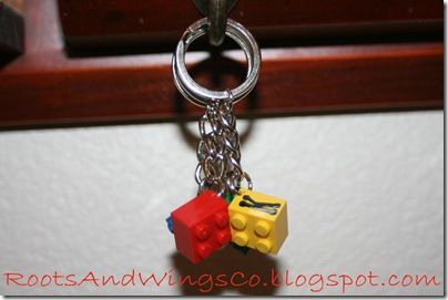 lego key chains - easy party favors!