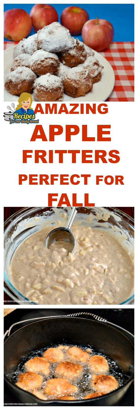 AMAZING APPLE FRITTERS PERFECT FOR FALL  PRINT RECIPE HERE: http://recipesforourdailybread.com/best-apple-fritters-tn/