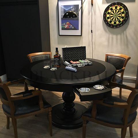 Mesa De Cartas E Xadrez 2em1 Blackball Passe Para Ver Outra Foto Blackball Fabrica De Mesas De Jogos De Alto Decoracao Elegante Casa Sala De Jogos Home