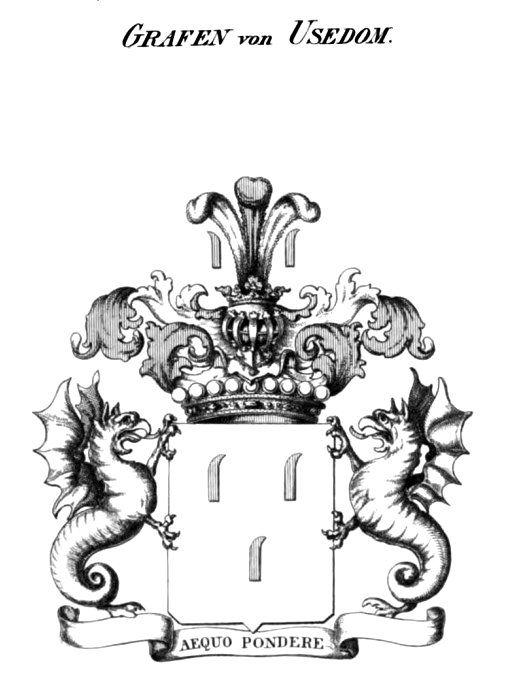 Herby Monarchii Pruskiej - Wappenbuch der preussischen Monarchie - Coat of Arms: Counts von Usedom