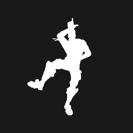 Fornite Dance Battle Royale Fond D Ecran Dessin Pochoir Silhouette Fond D Ecran Jeux