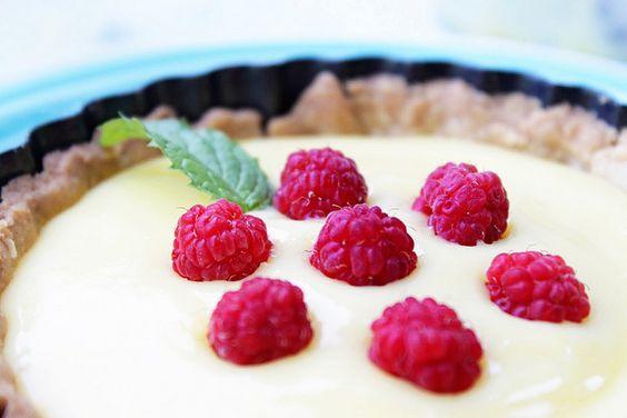 lemon curd and raspberry tartlets. #foodporn #yummy