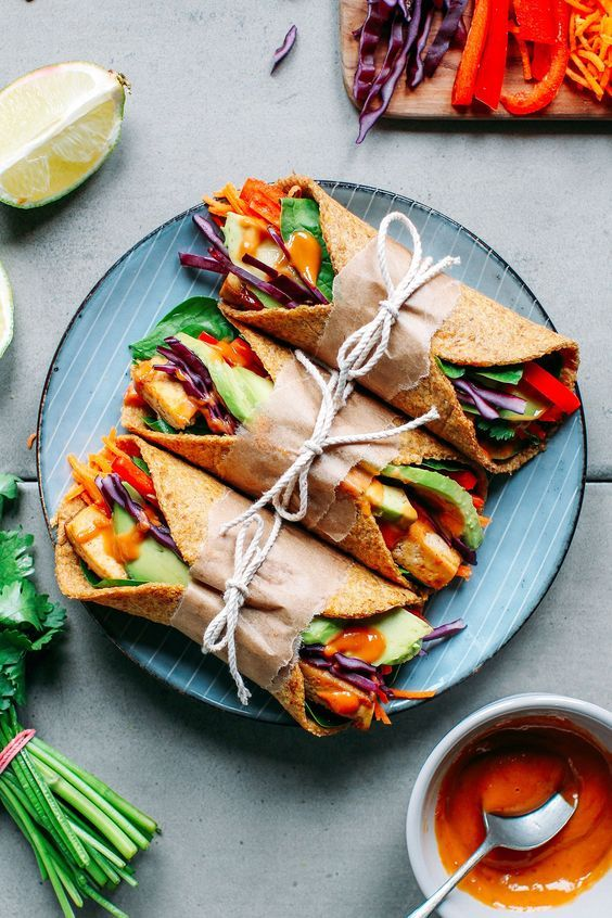 Spicy Thai Flaxseed Wraps #vegan #veryveggie