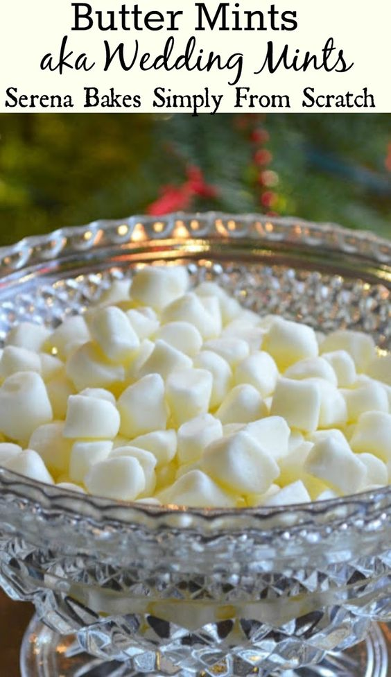 Butter Mints aka Wedding Mints melt in your mouth minty deliciousness. www.serenabakessimplyfromscratch.com