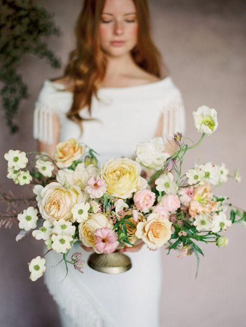 Garden Rose Dogwood Poppy And Butterfly Ranunculus Centerpiece Cheap Wedding Flowers Beautiful Wedding Flowers Ranunculus Centerpiece