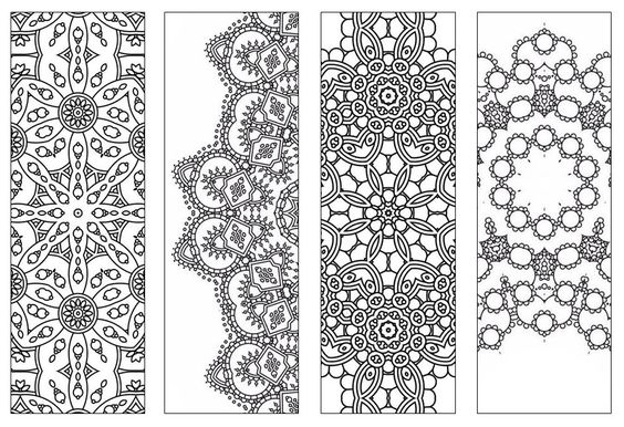 NEW | Bookmarks,Printable Intricate Mandala Coloring Pages,Instant Download,PDF,Mandala Doodling Page,Adult Coloring Pages,Kids Coloring by KrishTheBrand on Etsy:
