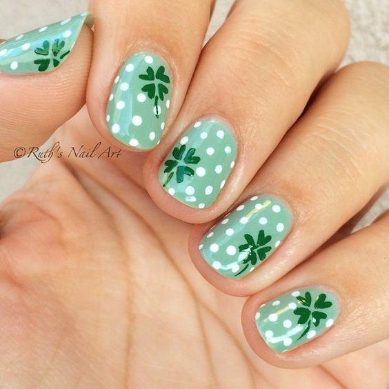 St. Patrick's Day Nails #ruthsnailart #nailart
