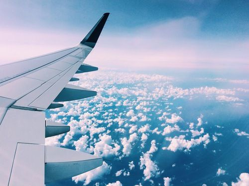 grafika travel, plane, and sky: