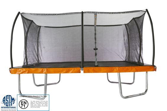 15' x 15' Square Trampoline & Safety Net Enclosure