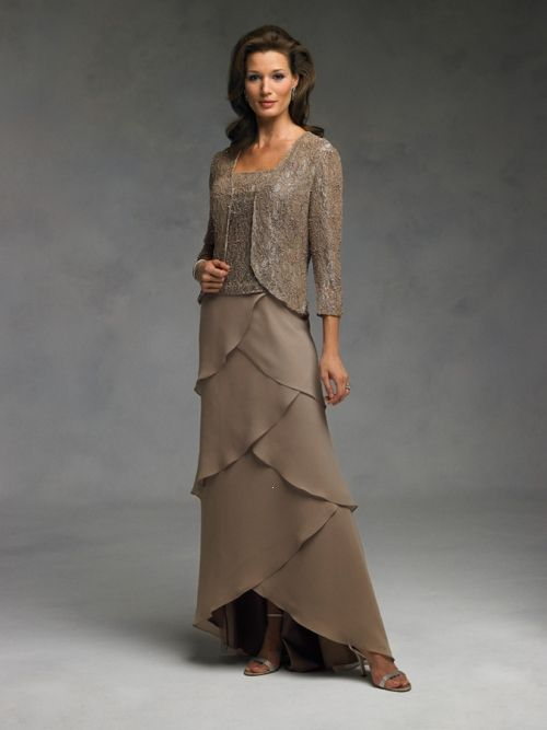 Spring Tea Length mother of the bride dresses  ... Column Tea ...