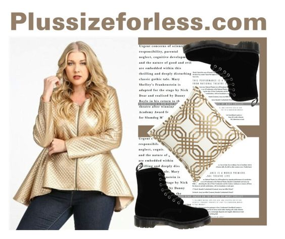 """Plussizeforless (2) - 5/10"" by mersida-1 ❤ liked on Polyvore featuring Dr. Martens"