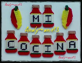 Analy Manualidades: Hot Sauce and Chili Magnets
