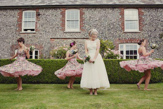 West Sussex England 1950 Vintage Wedding
