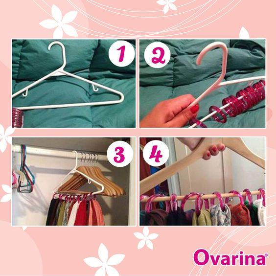 Ordena tus bufandas y pañuelones de una manera sencilla y práctica